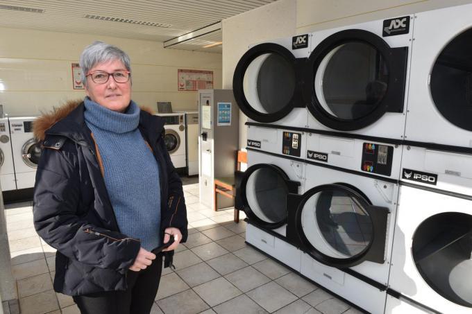 Lorette Lobbestael zal het wassalon renoveren.© EF