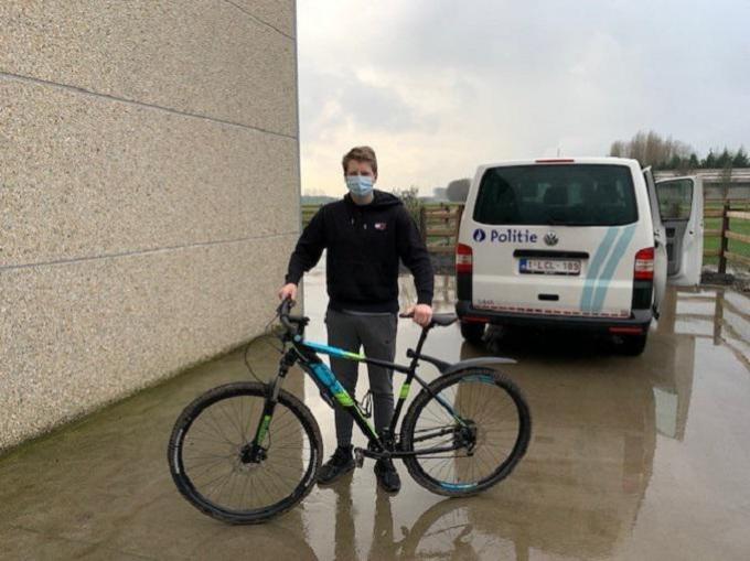 De politie bezorgde de fiets zelf terug aan de eigenaar.© DM