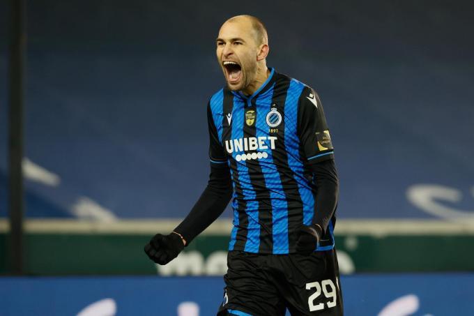 Bas Dost scoorde de 2-0 voor Club.© BELGA/Bruno FAHY