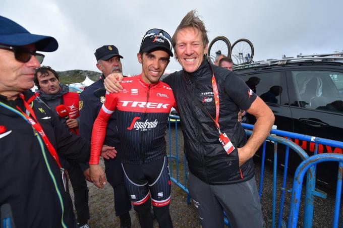 Met Alberto Contador.©Tim de Waele Corbis via Getty Images