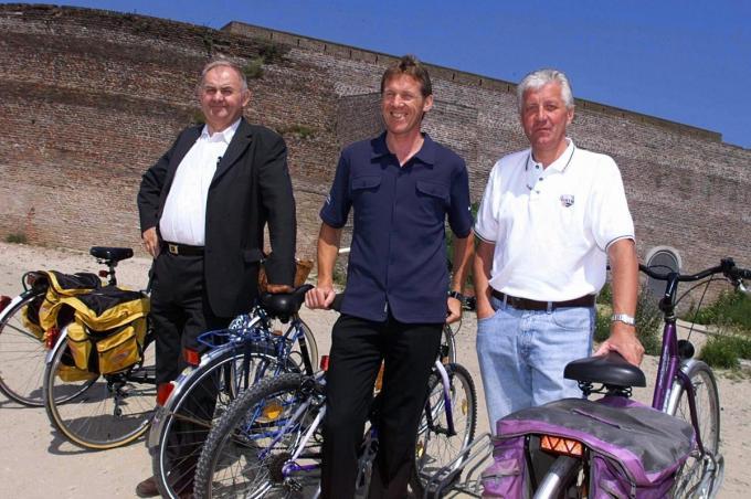 Met Jef Braeckevelt en Patrick Lefevere.© KRANT VAN WEST-VLAANDEREN