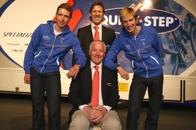 Met Stijn Devolder, Patrick Lefevere en Jurgen Van De Walle.© KRANT VAN WEST-VLAANDEREN
