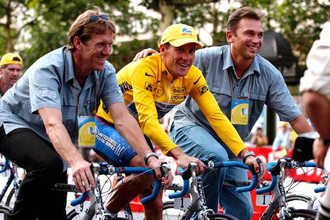 met Lance Armstrong en Johan Bruyneel.© Belga / Icon Sport
