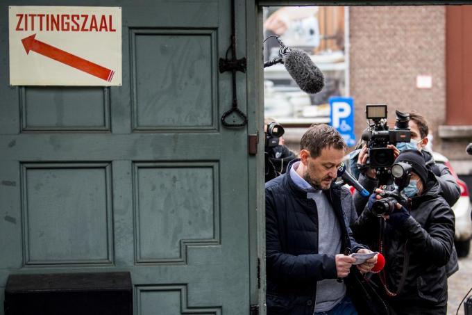 Bart De Pauw tijdens de openingszitting van de rechtbank op 14 januari.© BELGA/JASPER JACOBS