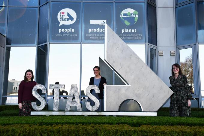 Stephanie Vandenberghe, Lies Berkein en Eline Ampe zijn de medewerkers van het People-team van Stas. (foto GF)