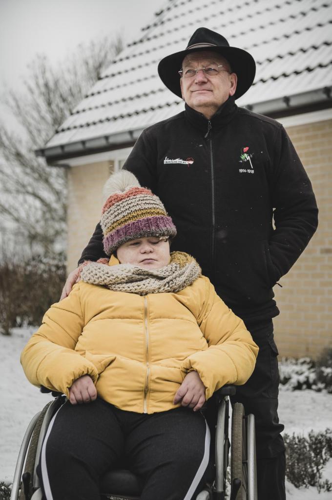 Lionel Roosemont met zijn dochter Tikvah.© Olaf Verhaeghe