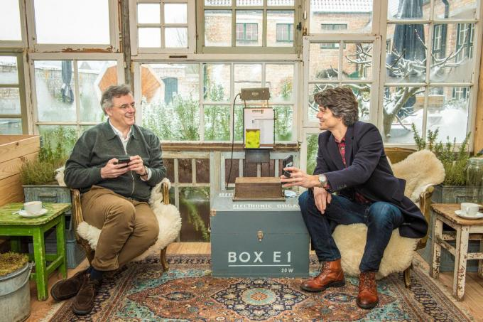 Joachim Coens en Benjamin Dalle in D'Oede Schole in Damme.© Christophe De Muynck