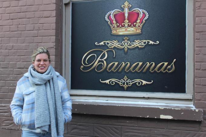 Magalie Demeyer was sinds eind augustus 2018 cafébazin van de Bananas in de Olmstraat en is nu op zoek naar een overnemer.© DJW