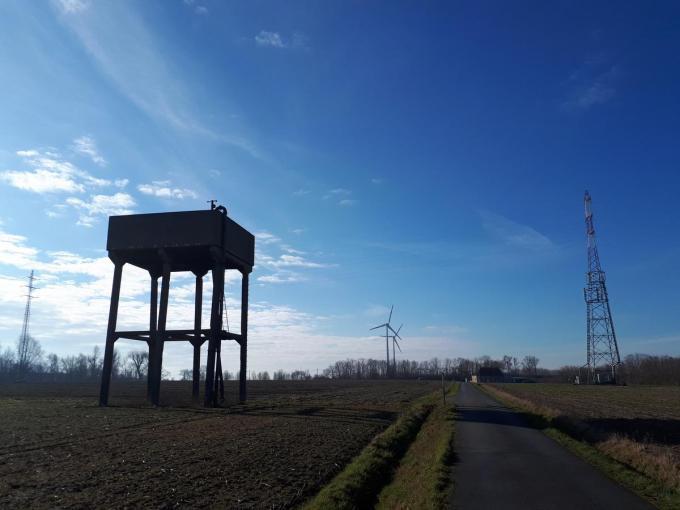 De watertoren werd in 1958 gebouwd en werd in 2013 buiten werking gesteld.