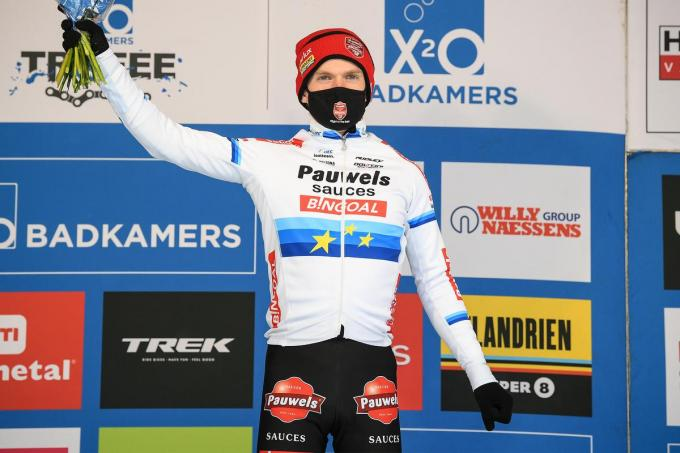 Eli Iserbyt won afgelopen zondag de Krawatencross in Lille, de voorlaatste manche van de X2O Trofee Veldrijden.© BELGA/DAVID STOCKMAN