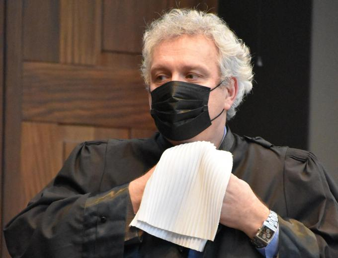 Advocaat Kris Vincke. (LK)