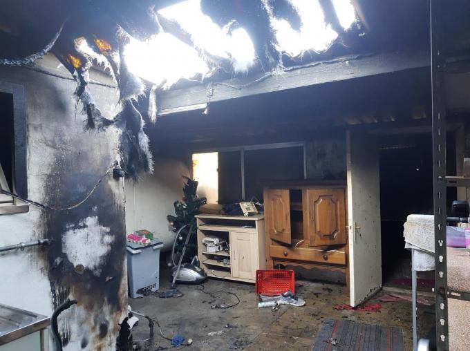 De schade in de wasruimte was aanzienlijk.© BF