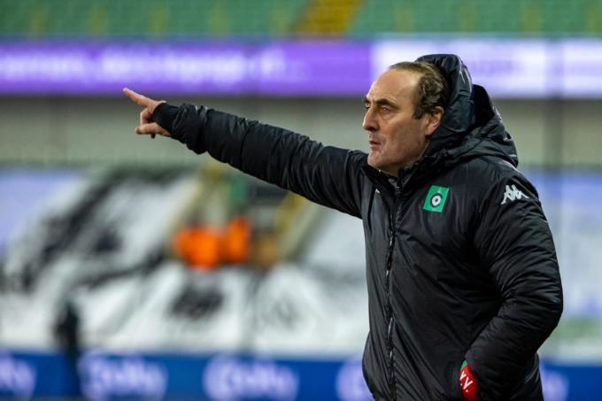 Cercle-coach Yves Vanderhaeghe heeft nog veel werk voor de boeg.©KURT DESPLENTER BELGA