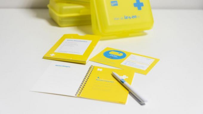 De doos ziet eruit als een brooddoos maar bevat belangrijke medische gegevens.© Stad Gent