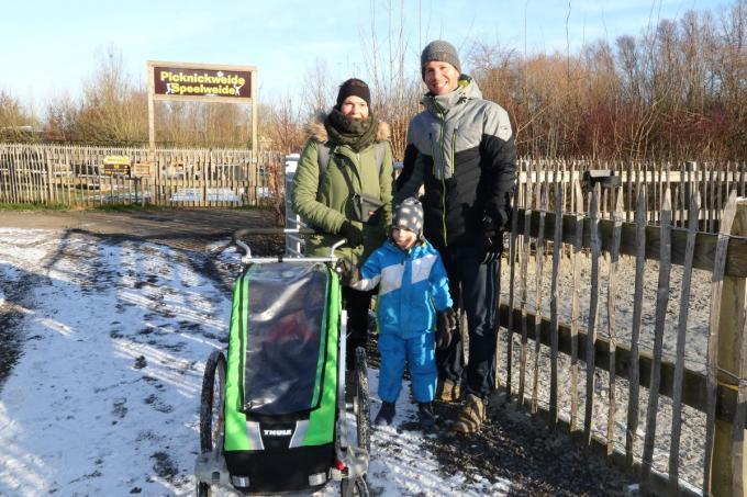 Sofie Van Daele en Thijs Vandelanotte met zoon Kasper en dochter Lucie.©EF
