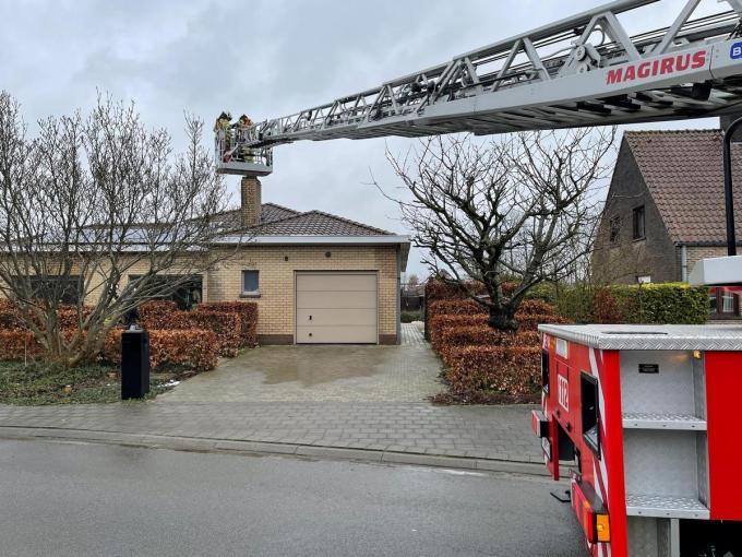 De brandweer had de situatie snel onder controle.© JVM