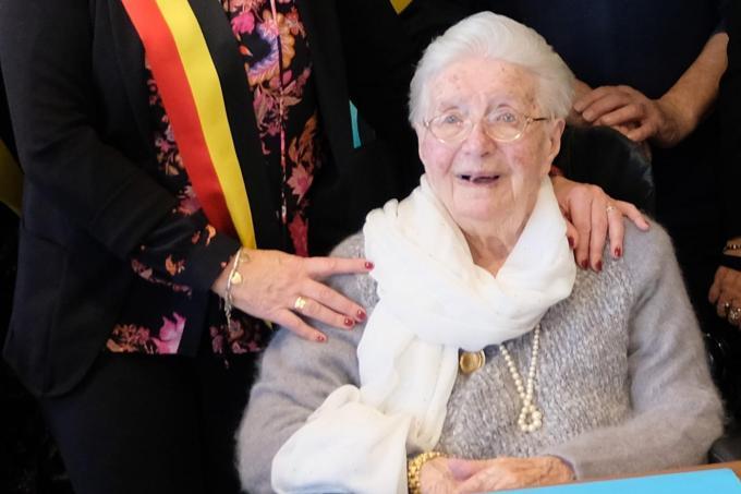 Camilla werd 104. (foto BC)