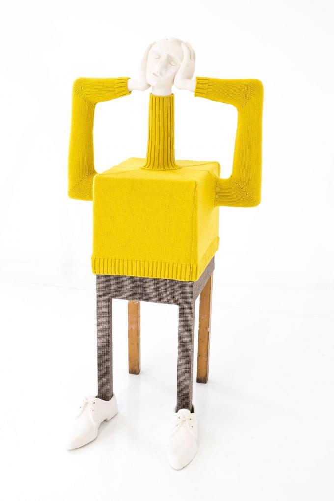 De kunstwerken van Dirk Van Saene refereren sterk aan de modewereld.©JOOSTJOOSSEN Joost Joossen