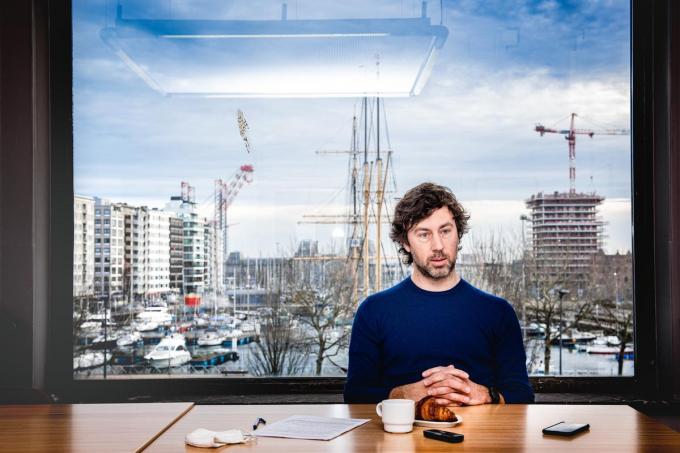 Wouter De Vriendt in het stadhuis van Oostende, waar hij gemeenteraadsvoorzitter is.© Christophe De Muynck