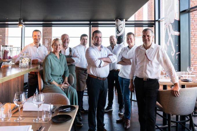 Het team van rooftoprestaurant Njord. (Foto Westtoer)