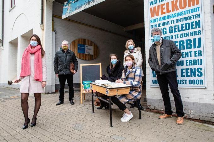 NV-A Brugge is bekommerd om het Sint-Andreasinstituut.© Davy Coghe