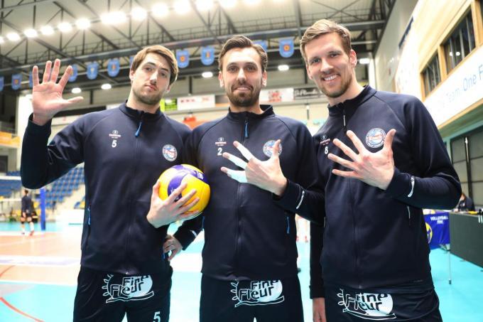 Knack Roeselare : Pieter Coolman , Hendrik Tuerlinckx en Matthijs Verhanneman wonnen vijf bekerfinales op rij.© VDB