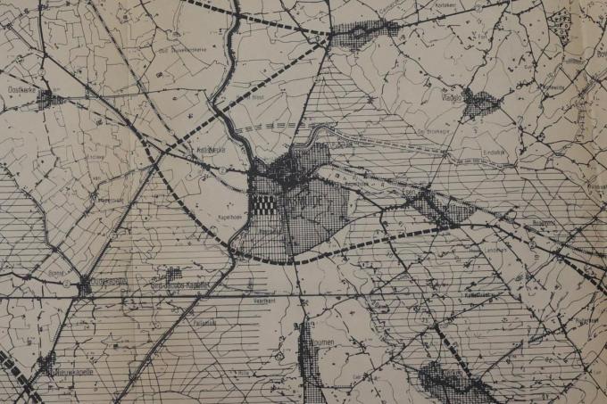 Deze kaart toont hoe de ringweg zou geweest zijn in de jaren 60.© MG