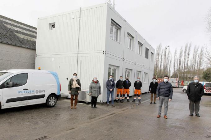 De technische dienst heeft voortaan haar uitvalsbasis bij de werkplaats in Eerengem.© Foto Coghe