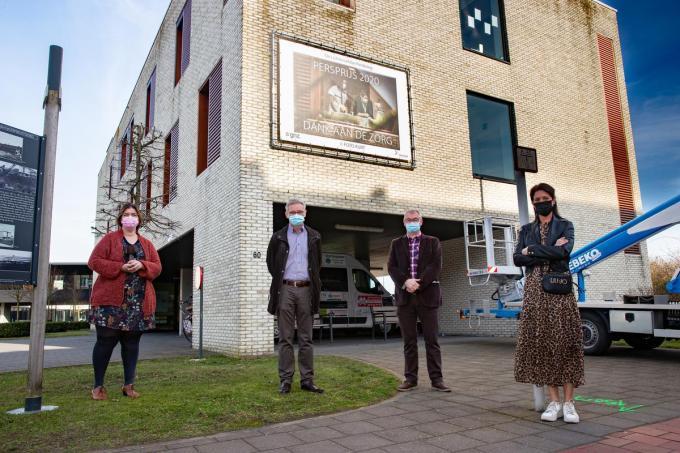 Van links naar rechts zien we Els Denolf, Koen Ramboer, Johan Vandenbussche en Ann Gunst.©Kurt Desplenter Foto Kurt