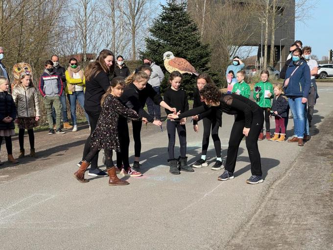 De kinderen voerden ook een dansje uit.© AVH