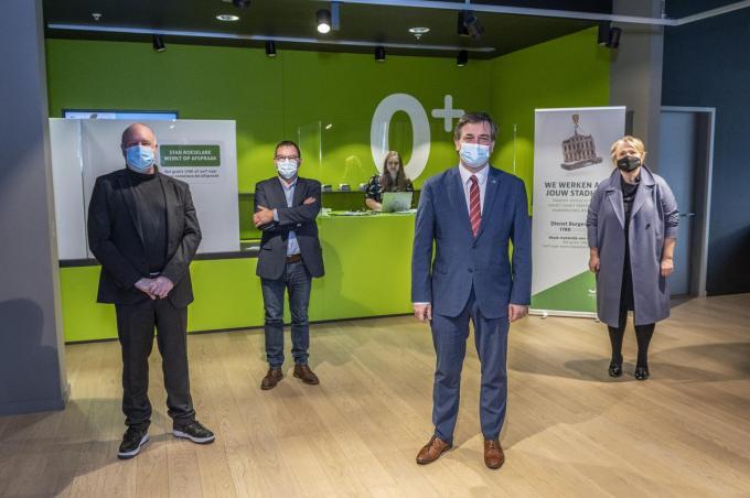 Op de foto Yves Rosseel, Henk Kindt, Kris Declercq en Nathalie Muylle.©STEFAAN BEEL Stefaan Beel