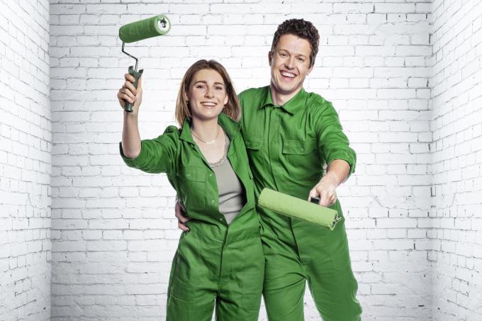 Charlotte en Thibault uit Bavikhove gaan een huis in Kortrijk renoveren.© VTM