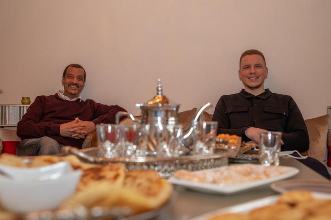 Aziz Michmich en Daniël Schonewille van de vzw Ihsan.© Wouter Meeus