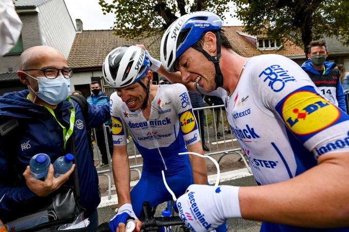 Tim Declercq en Yves Lampaert.© BELGA