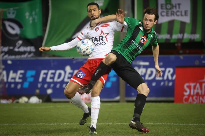 Olivier Deman was op Moeskroen de enige Belg in het basiselftal van Cercle. (foto Belga)© BELGA