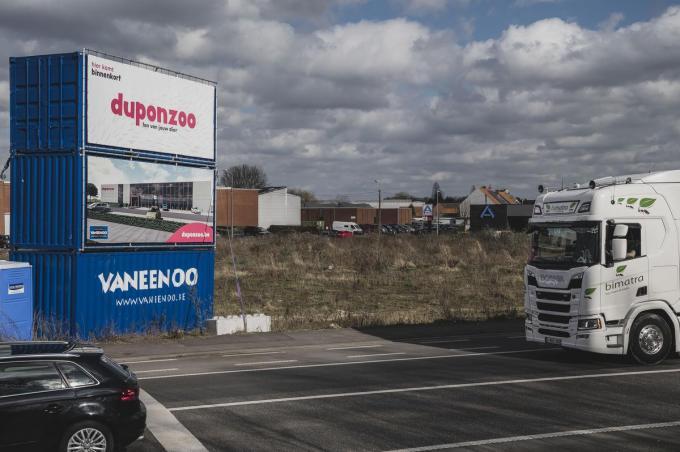 De nieuwe Duponzoo winkel komt langs de Ringlaan.© Olaf Verhaeghe