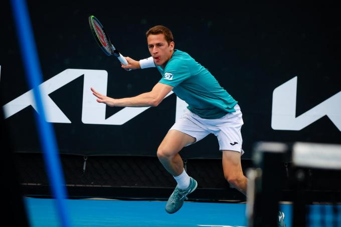 Kimmer Coppejans, hier op de Australian Open in Melbourne.© BELGA/PATRICK HAMILTON