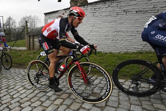 Philippe Gilbert (Lotto Soudal) tijdens Omloop Het Nieuwsblad©DIRK WAEM BELGA
