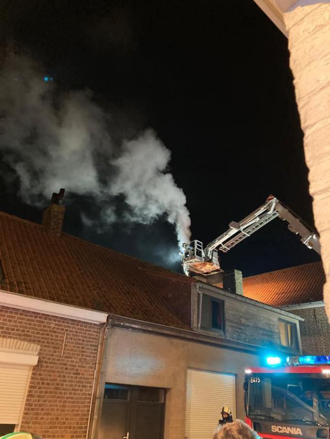 De brandweer was snel ter plaatse.© RVL