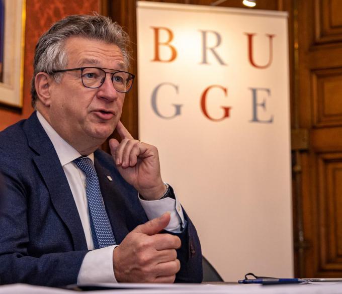 Burgemeester Dirk de Fauw.©KURT DESPLENTER BELGA