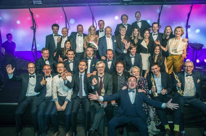 De winnaars tijdens de vorige editie. Dit jaar is er ook een award voor de 'deuredoeners'.©STEFAAN BEEL Stefaan Beel