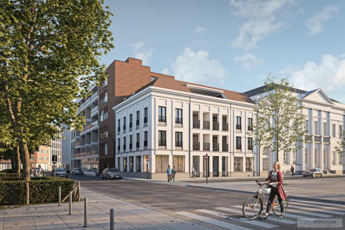 De nieuwbouw moet netjes aansluiten op de al bestaande gebouwen.© Stad Kortrijk