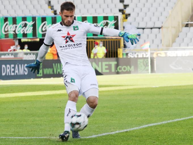 Thomas Didillon staat in de kwartfinales van de Croky Cup op Anderlecht niet in het doel.© Bart Vandenbroucke