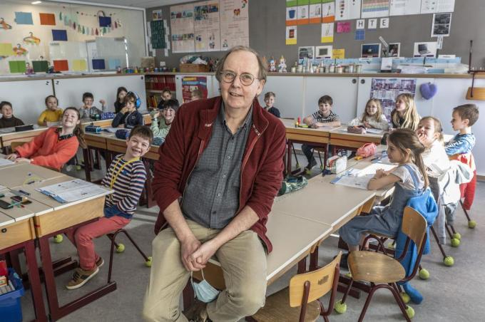 Meester Pol Panen van basisschool De Vlieger is sinds 1 maart met pensioen.© Stefaan Beel