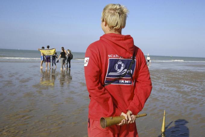 Op 13 mei zullen er redders op post staan in Koksijde, Oostende, De Haan, Blankenberge en Knokke-Heist.© Belga