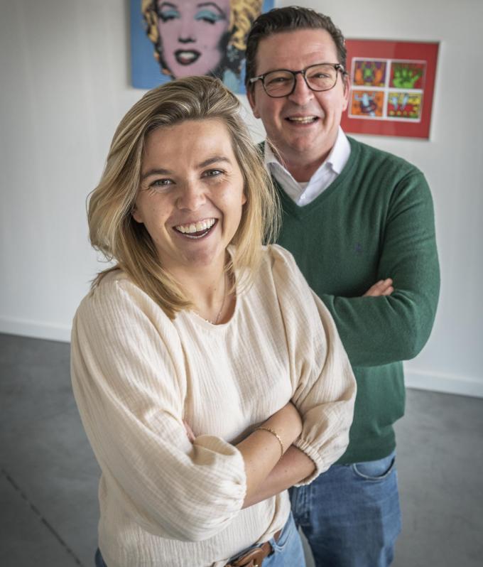 Johan Pillen en dochter Renée, echte Roeselaarse commerçanten. (foto S.Beel)©STEFAAN BEEL Stefaan Beel