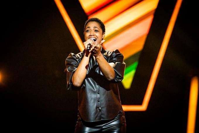 Mauren Carreras Jay treedt aan in The Voice Van Vlaanderen. (Foto VTM)© (Foto VTM)