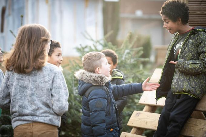 Het speelpleintje is populair bij de kinderen uit de buurt (foto SVG)