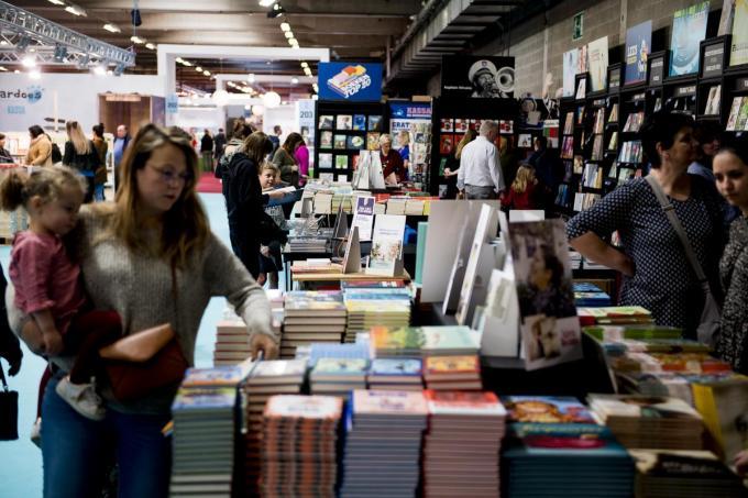 De bekende Antwerpse Boekenbeurs staat te koop en Kortrijk heeft duidelijk interesse.©JASPER JACOBS BELGA