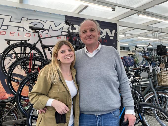Clémence en Geert Crappé willen de lijn van het oude Mega cycle gewoon drootrekken. (Foto DRD)
